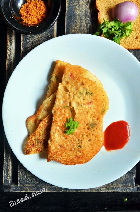 bread dosa recipe
