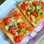 Bread Pizza Recipe (Oven and Tawa Method)