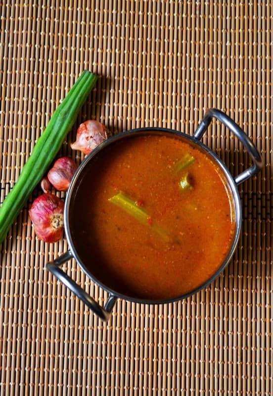 murungakkai vatha kuzhambu recipe