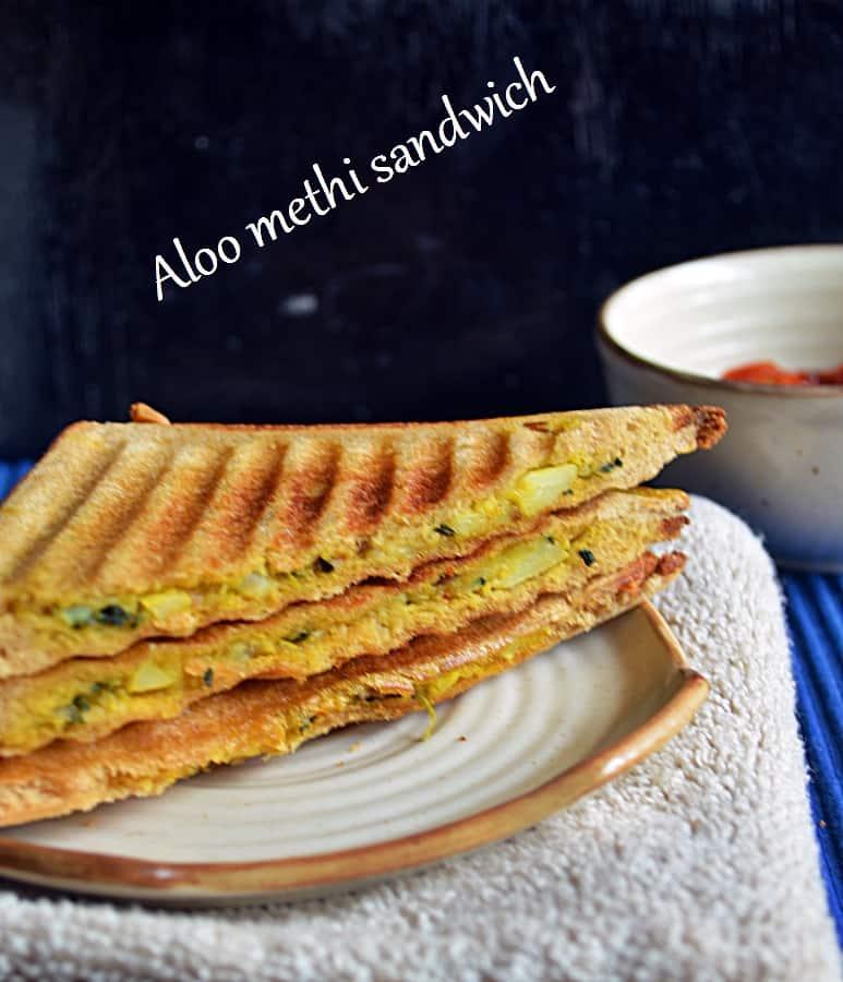 Aloo methi sandwich recipe