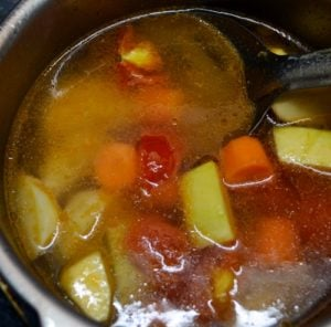 mixed vegetable soup step3