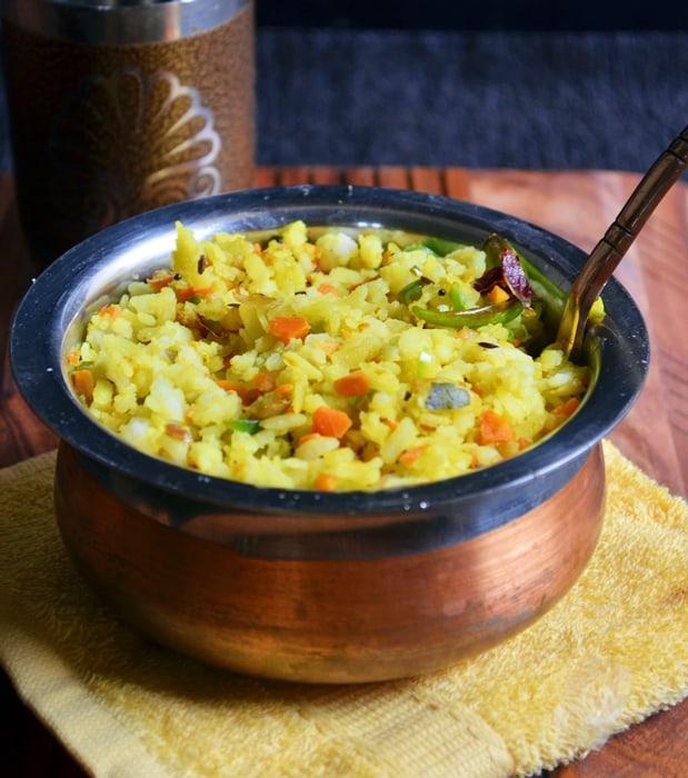 aval upma recipe, how to make poha upma