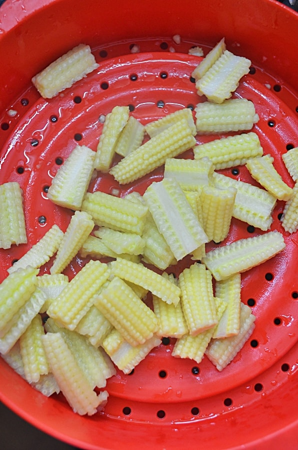 how to cook mangetout and baby corn