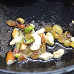 Frying nuts in ghee