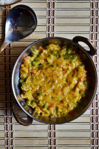 Restaurant peas masala recipe