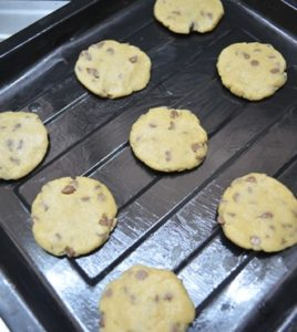 egg less chocolate chip cookie step 4