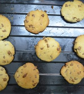 egg less chocolate chip cookie step 5