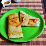 Vegetable masala dosa recipe | How to make restaurant style vegetable masala dosa