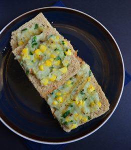 Corn potato open toast step 6