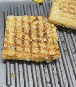 Corn potato open toast step5
