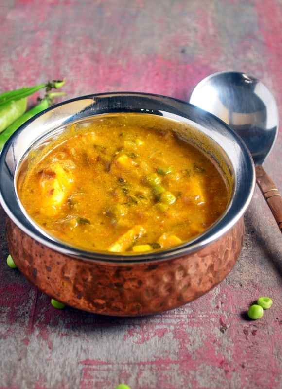 Methi matar paneer recipe