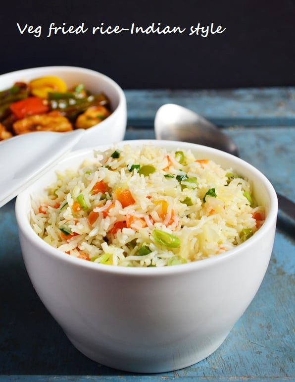Easy Veg fried rice recipe Indian style