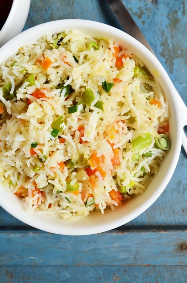 How to make vegetable fried rice recipe