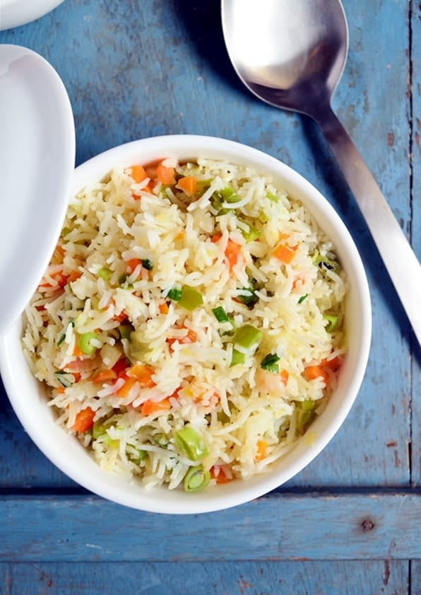 How to make veg fried rice at home