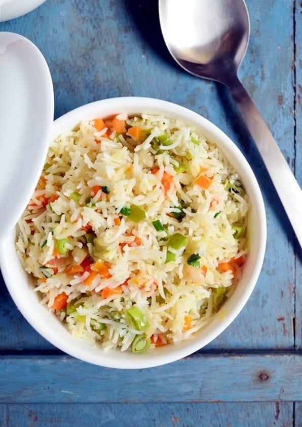 Quick veg fried rice recipe