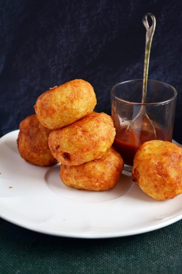 aloo paneer kofta recipe, how to make aloo paneer kofta