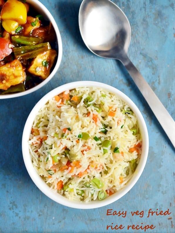 easy veg fried rice recipe