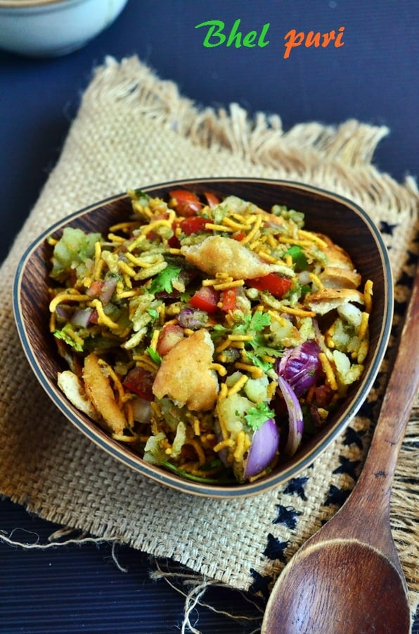 bhel puri recipe, how to make mumbai bhel puri