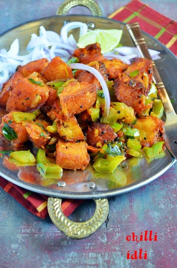 how to make chilli idli recipe