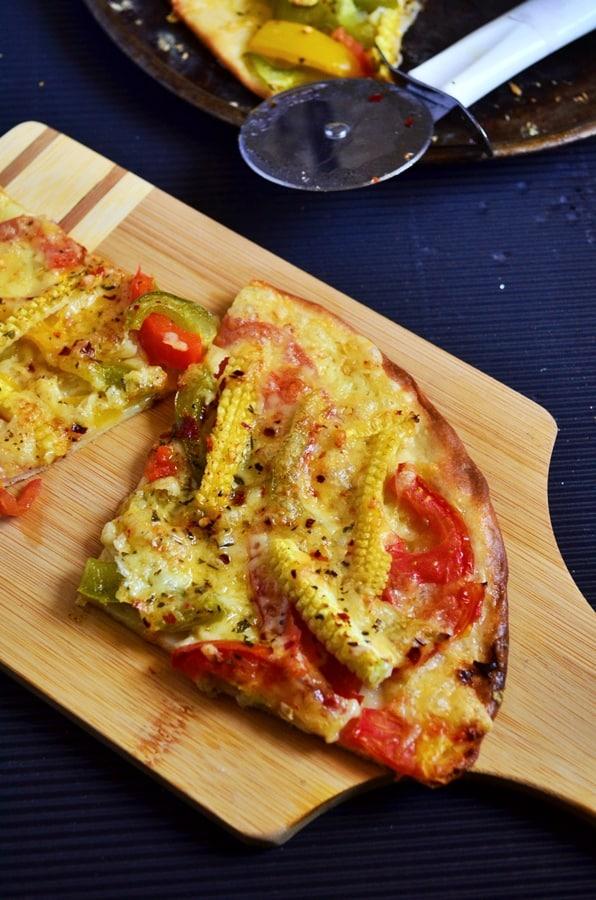 thin crust veg pizza recipe-a