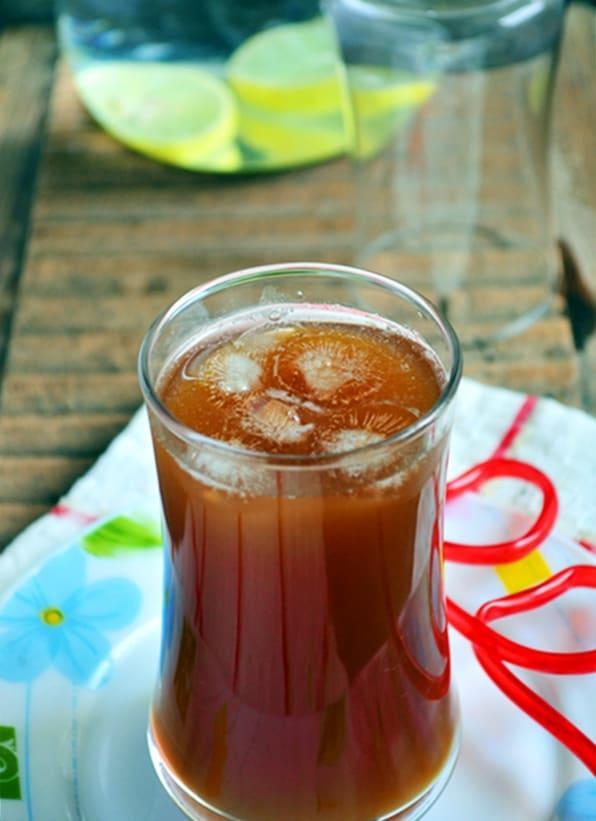 Homemade iced tea with apple recipe