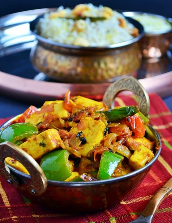 How to make kadai paneer recipe
