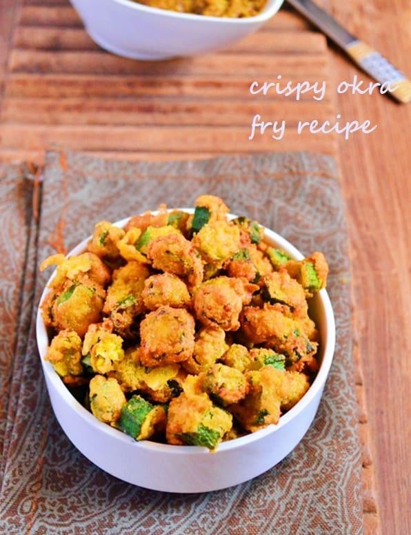 crispy okra fry recipe