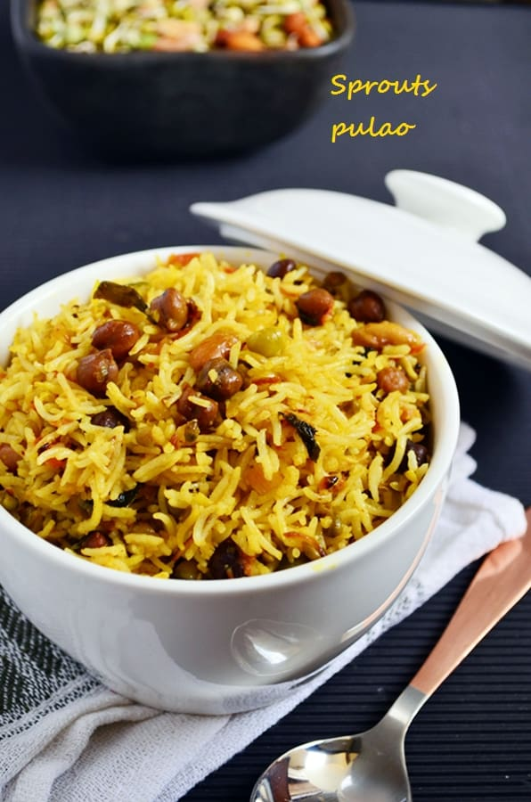 sprouts pulao recipe