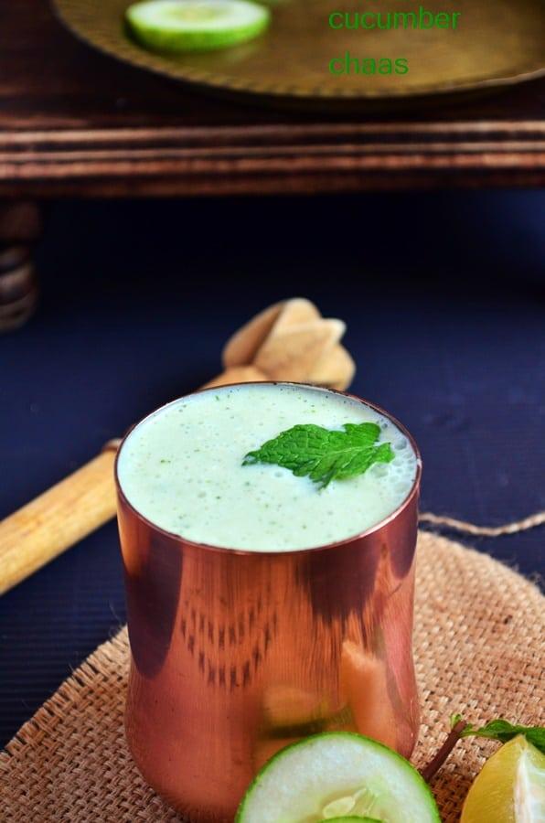cucumber masala chaas recipe