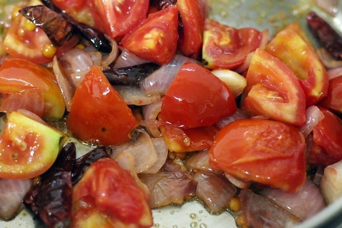 the sauteed onion tomato mixture for