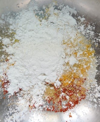 spice powder and flours mixed-potato fry recipe