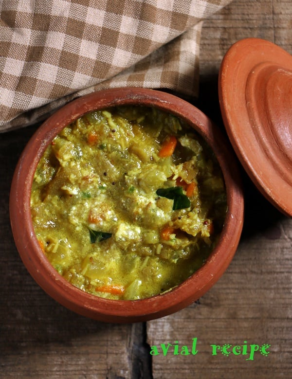 avial- mixed veg curry in coconut sauce