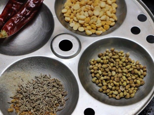 ingredients for idli sambar recipe, tiffin sambar recipe