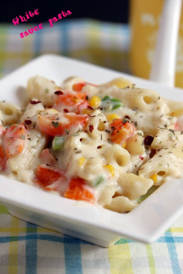 White Sauce Pasta Recipe for dinner