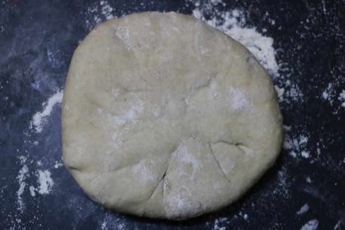 stuffing sealed for making aloo paratha