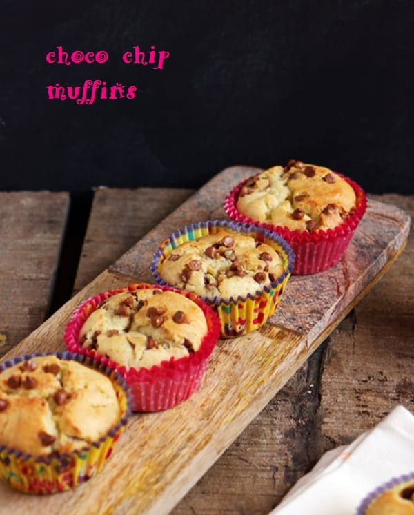 eggless choco chip muffins recipe a