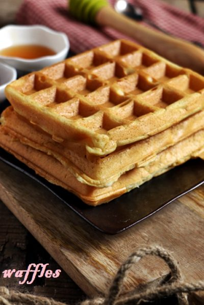 eggless waffles recipe