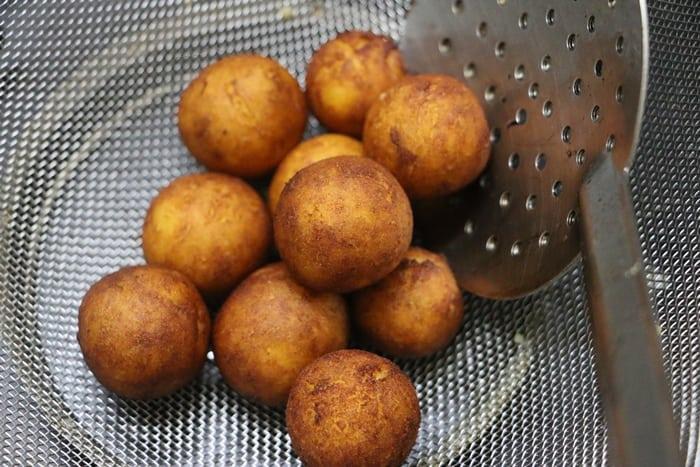 Making vegan gulab janum recipe, sweet potato gulab jamun recipe
