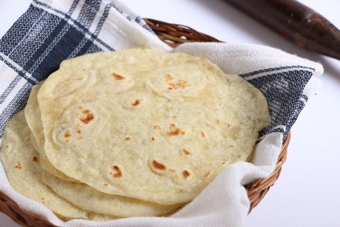 flour tortilla step 8