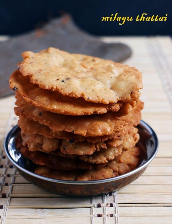 milagu thattai recipe- Diwali snacks recipes