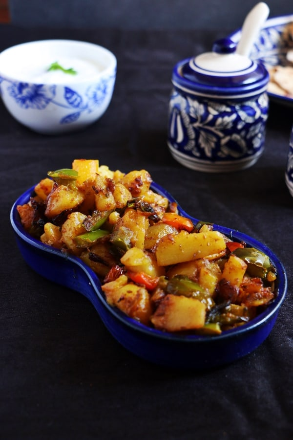 aloo shimlamirch sabzi recipe