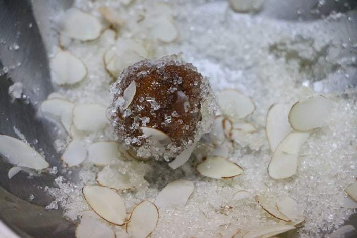 bread gulab jamun garnished and ready to serve