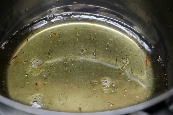 making sugar syrup for bread gulab jamun