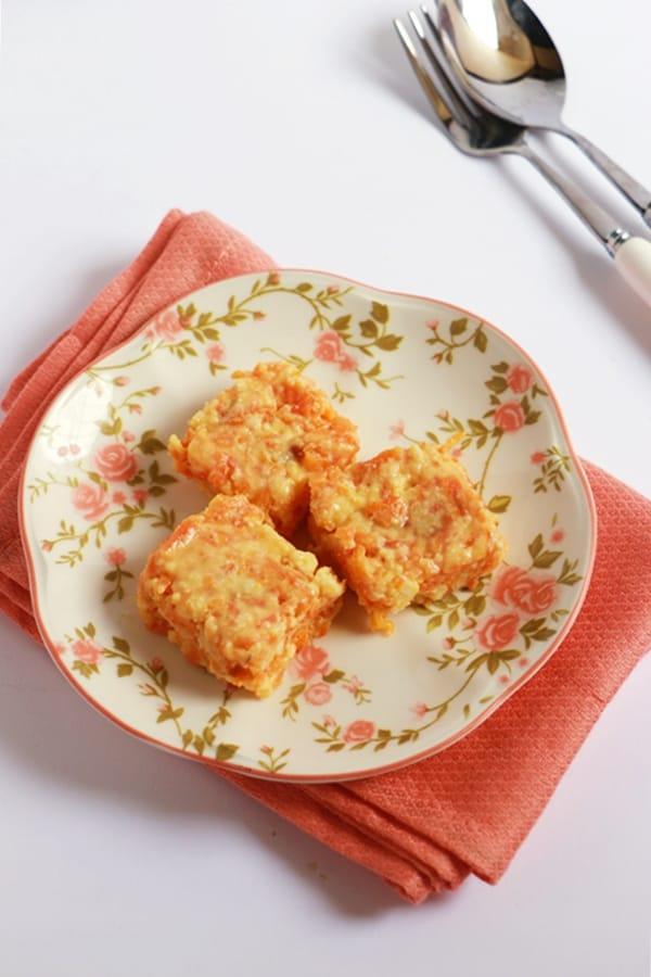 carrot kalakand recipe