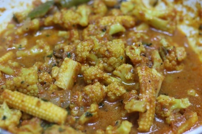 cauliflower masala ready to serve