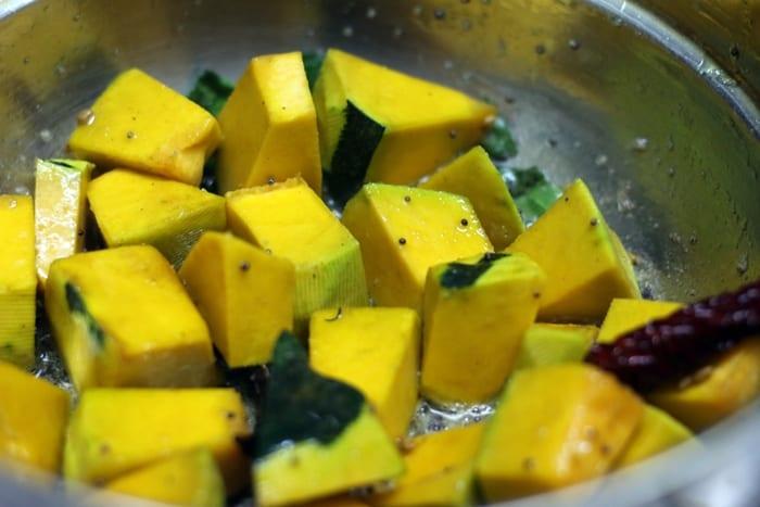 pumpkin sambar step 2