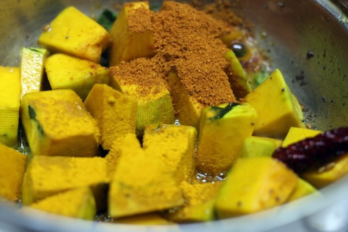 pumpkin sambar step 3