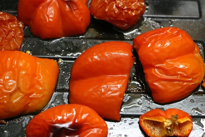 roasted red pepper pasta step 1
