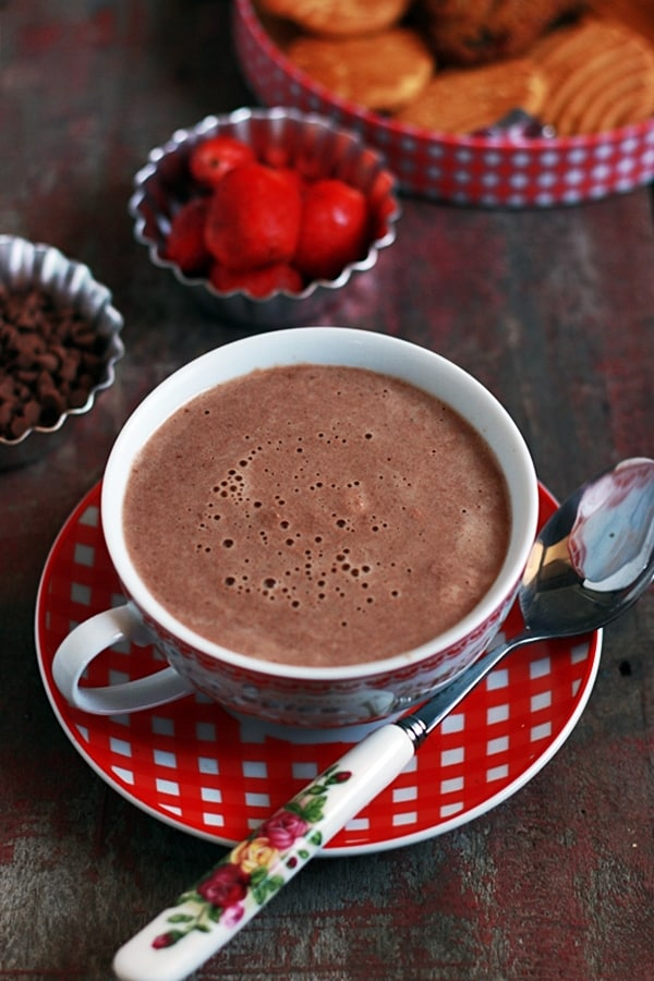 strawberry hot chocolate recipe d