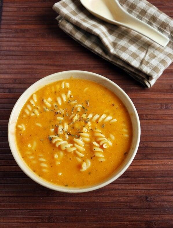 veg pasta soup recipeb
